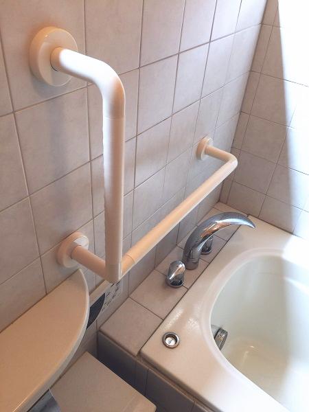 三鷹市の浴室手すり施工画像02(TOTOインテリアバー)