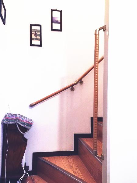 横浜市南区のマンション階段手すり施工事例02