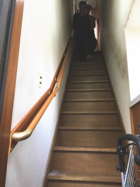 渋谷区の階段手すり取付工事例1