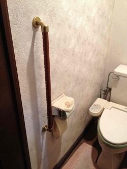 トイレ手すりTOTO製I型(施工例15)
