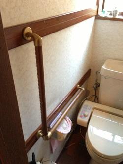 トイレ手すりTOTO製L型(施工例19)