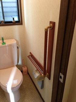 トイレ手すりTOTO製L型(施工例23)