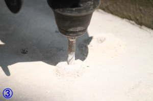 TOTO屋外手すり用アンカー固定支柱の取付方法3