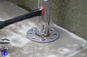 TOTO屋外手すり用アンカー固定支柱の取付方法4
