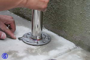 TOTO屋外手すり用アンカー固定支柱の取付方法6