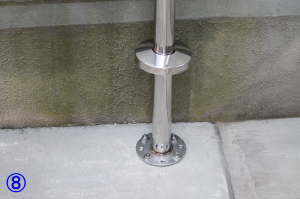 TOTO屋外手すり用アンカー固定支柱の取付方法8