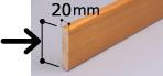 補強板 20mm厚の幅