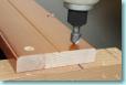 木口化粧材の取付過程1