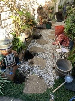 屋外手すり用支柱の取付方法2
