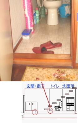 介護保険段差解消工事 トイレ入口