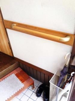 玄関のTOTO横手すり(施工例30)