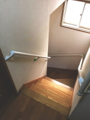 階段手すりの取付工事(パナソニック)ホワイト