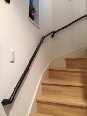 階段手すりの取付工事(パナソニック)ブラック