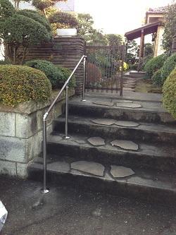 屋外用階段手摺(施工例13)