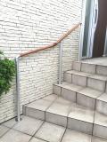 玄関の支柱埋め込み手すり
