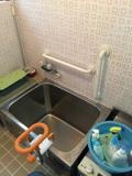 浴室介護手すり 取付工事画像