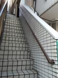 アパートの外階段手すり取付工事