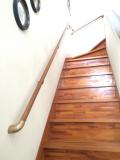 補強板を使わない階段の手すり取付工事