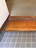 足が上がらないので玄関式台設置した画像