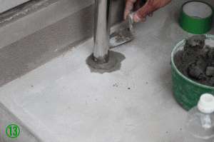 屋外手すり用支柱の取付方法13