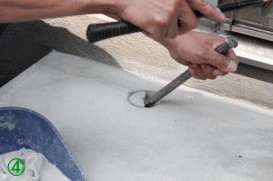 屋外手すり用支柱の取付方法4