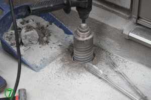 屋外手すり用支柱の取付方法7