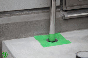 屋外手すり用支柱の取付方法9