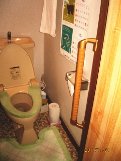 トイレ手すりTOTO製出隅型(施工例6)
