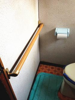 トイレ壁際の手すり型(施工例24)