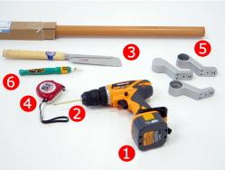 木製手すり取付用道具